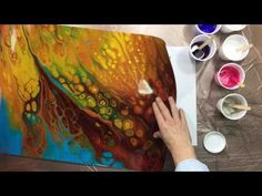 Acrylic Pour Painting: Control The Chaos--How To Define Your Shapes - YouTube