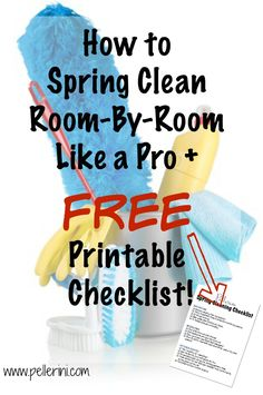 How exciting, it's Spring Cleaning time! How to Spring Clean room by room like a pro and a FREE printable checklist! Homemade Cleaning Products, Cleaning Recipes, House Cleaning Tips, Deep Cleaning, Cleaning Hacks, Cleaning Schedules, Spring Cleaning Tips, Cleaning Room, Cleaning Lists