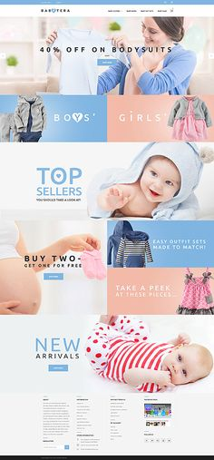 Template 61191 - Babytera Infant Responsive Magento Theme with Slider, Newsletter Pop-up,  Carousel, Video Integration, Blog