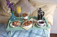 I'd be so pleased with such a breakfast on Mother's day :)   Mother's Day Menu: Breakfast in Bed - Saveur.com