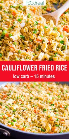 Rice Recipes For Dinner, Lunch Recipes, Healthy Recipes, Rice Recipes For Kids, Healthy Low Carb Dinners, Crockpot Recipes, Keto Recipes, Cooking Recipes, Cauliflower Rice Stir Fry