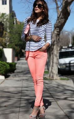 Coloured jeans for Spring :)