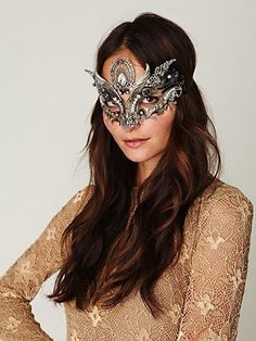 Voxhall Italian Mask- gorgeous mask to go with our Venetian Mascaraed Catalog Theme #freepeople #fashion #Leondoro