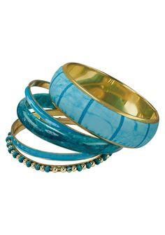 Armreif-Set im Online Shop von Ackermann Versand Cuff Bracelets, Bangles, Shops, Tropical Paradise, Turquoise, Jewelry, Style, Fashion, Beads