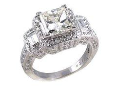 Antique Engagement Rings Princess Cut Diamond Ring