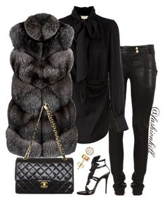 """The Baddest In The Game"" by fashionkill21 ❤ liked on Polyvore featuring Balmain, Emilio Pucci, Harrods, Giuseppe Zanotti and Chanel"