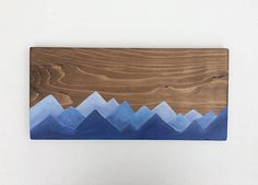 CANADA DAY SALE 50% off Mountain art. Wood sign. Ski sign.