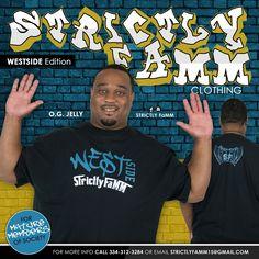 Blue/White/Black WestSide T-Shirt design edition