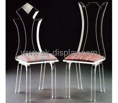 2016 new design clear perspex chair furniture with pad AFS-052