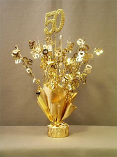 Gold 50 Table Centerpiece