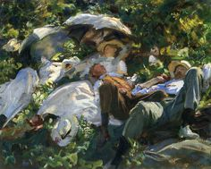 Group with Parasols (also known as A Siesta) 1905. John Singer Sargent