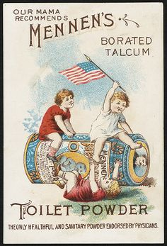 Our mama recommends Mennen's Borated Talcum Toilet Powder, the only healthful and sanitary powder endorsed by physicians. [front] | Flickr - Photo Sharing!