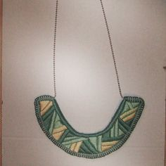 embroidery #3 Turquoise Necklace, Embroidery, Chain, Jewelry, Needlepoint, Jewlery, Jewerly, Necklaces, Schmuck