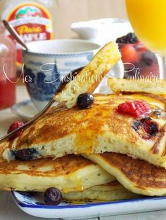 Pfannkuchen mit Joghurt flauschig 1 – Pancakes with yogurt fluffy 1 – Vegan Brunch Recipes, Cooking Recipes, Pancake Recipes, Yogurt Recipes, Breakfast Recipes, Yogurt Pancakes, Fluffy Pancakes, Blueberry Pancakes, Buttermilk Pancakes