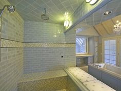 House of Turquoise: Fabulous Dream Bathroom!       I want this steam shower...