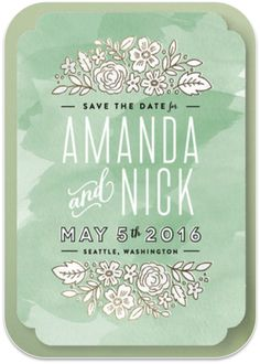 Gorgeous 'Save the Date' design in mint