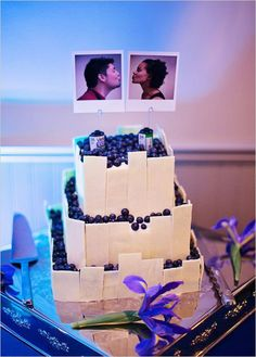 Speaking of unconventional... we absolutely adore this Polaroid cake topper idea found on Off Beat Bride. Photo by Jacqueline Elizabeth Photography.