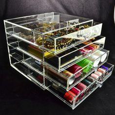 Makeup Storage, Makeup Organization, Storage Ideas, Drawers, Crystals, Model, Shopping, Furniture, Collection