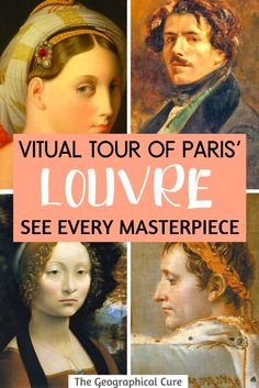 How To Take a Virtual Tour of Paris' Louvre and See Every Masterpiece From Home Italian Paintings, French Paintings, Virtual Travel, Virtual Tour, Paris Travel, France Travel, Europe Destinations, Liberty Leading The People, Viajes