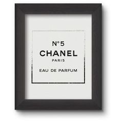 Chanel Perfume Logo Poster PRINTABLE FILE. Chanel Nº 5 Print. Modern... ($5.88) ❤ liked on Polyvore featuring home, home decor, wall art, quote posters, modern wall art, word wall art, modern poster and typography poster