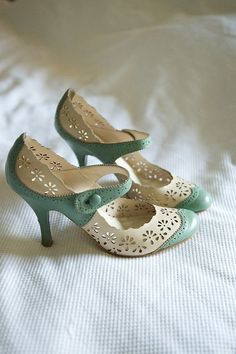 Mint and Cream heels