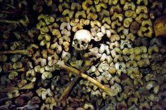 Human skulls line the scary Paris' catacombs -- and some visitors report hearing shrieks and strange voices inside the area. These subterranean quarries had been used to store the remains of generations of Parisians in a bid to cope with the overcrowding of Paris' cemeteries at the end of the 18th century.