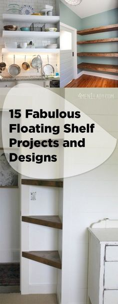 15 Fabulous Floating Shelf Projects and Designs for your home!