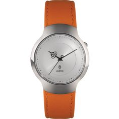 Alessi Dressed Watch - Orange ($228) ❤ liked on Polyvore featuring jewelry, watches, orange, special occasion jewelry, orange watches, cocktail jewelry, evening jewelry and alessi