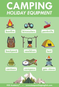 Learn English 619667229954692527 - Are you going camping this summer? ⛺️ Source by mcrbellevill Learn English Grammar, English Idioms, English Vocabulary Words, English Phrases, Learn English Words, English Lessons, French Lessons, Spanish Lessons, Learning English For Kids