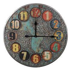 Scroll Metal Wall Clock