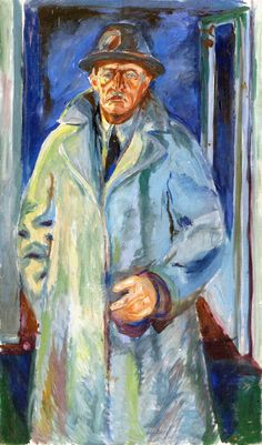 Self-Portrait in Hat and Coat Edvard Munch - 1923-1924