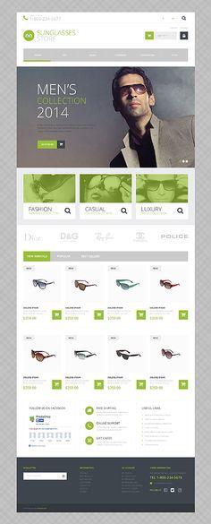 #PrestaShop-Theme für einen #Sonnenbrillen-Shop