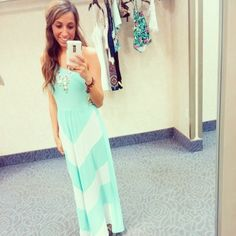 Insta-glam BFF Jen looks lovely in a Charlotte Russe maxi dress!