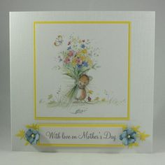 Mother's Day card - cute mouse with flower bouquet £2.50
