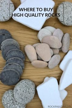 Where to buy smooth and flat rocks for crafts - Rock Painting 101 - Modern Design Rock Painting Designs, Paint Designs, Painting Patterns, Hobbies And Crafts, Crafts To Sell, Kid Crafts, Rock Sculpture, Flat Rock, Flat Stone