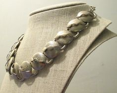 60s Does 40s Silver Modernist Necklace Gypsy by modernmatters, $44.00