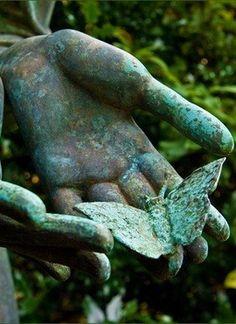 """""""Honest disagreement is often a good sign of progress. Zen, Les Fables, Montage Photo, Buddha Art, My Secret Garden, Hidden Garden, Garden Statues, Belle Photo, Shades Of Green"""