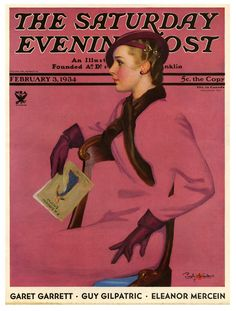 "Art Artists Artists by Name S Penrhyn Stanlaws ""At the Fashion Show,"" Saturday Evening Post Cover, February 3, 1934 By: Penrhyn Stanlaws"
