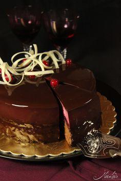 Schoko-Cassis Torte