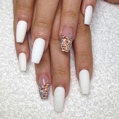 Matte White   Nails by: Laque' Nail Bar   Nail Tech: Kay