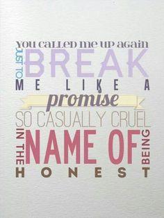 All too well promise lyrics