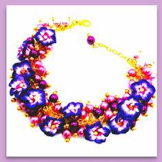 Polymerclay Bracelet Snowflake Ornaments, Christmas Snowflakes, Polymer Clay, Crochet Necklace, Unique, Bracelets, Artwork, Handmade, Stuff To Buy