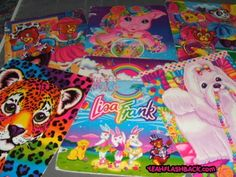 Lisa Frank: I loved the Lisa Frank school supplies! My backpacks in elementary school were filled with Lisa Frank items! :)<3