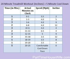 Sweaty Saturdays ~ 20 Minute Treadmill Workout {Inclines}