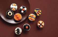 Great size - of course I'd eat four (conservatively), but in theory, great size!  Mini Halloween Pumpkin Cupcakes - Bon Appétit