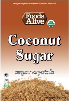 Foods Alive Coconut Sugar Crystals, 14 Ounce - http://goodvibeorganics.com/foods-alive-coconut-sugar-crystals-14-ounce/