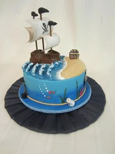 Make Carve A Fishing Boat Cake Boat Cakes Pinterest Boat - Fishing boat birthday cake