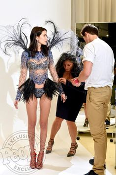 Bella Hadid for Victoria's Secret: First Look at Her in Wings! Click through for her reaction