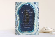Super cool shades of blue wedding invites l Wedding Pretties with BHLDN! l The Perfect Palette