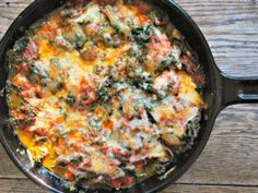 Chicken and Kale Pizza Bake